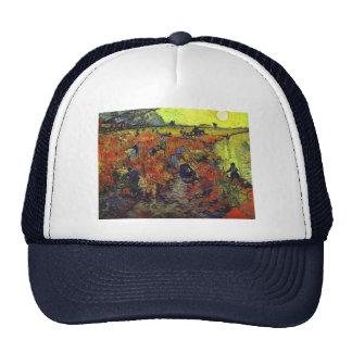 El Vinyard rojo de Vincent van Gogh Gorras De Camionero
