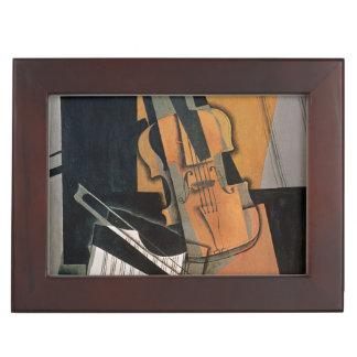 El violín, 1916 caja de recuerdos