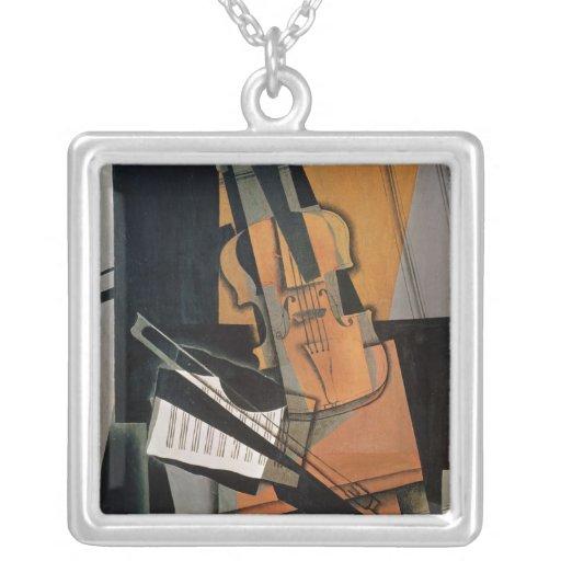 El violín, 1916 colgante cuadrado