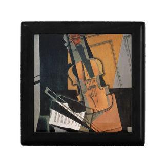 El violín, 1916 joyero cuadrado pequeño