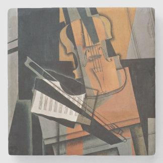 El violín, 1916 posavasos de piedra