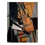 El violín, 1916 postal