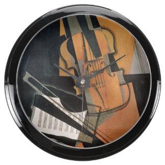 El violín, 1916 reloj pecera