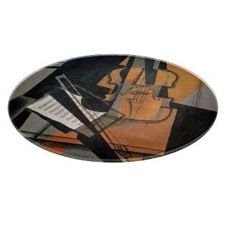 El violín, 1916 tabla para cortar