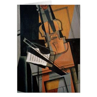 El violín, 1916 tarjeta