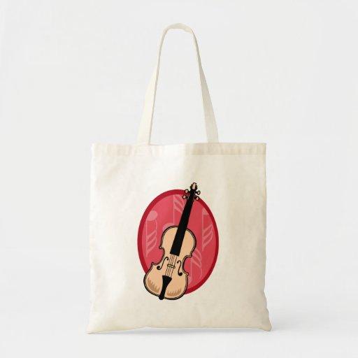 El violín con rosa observa el fondo bolsa