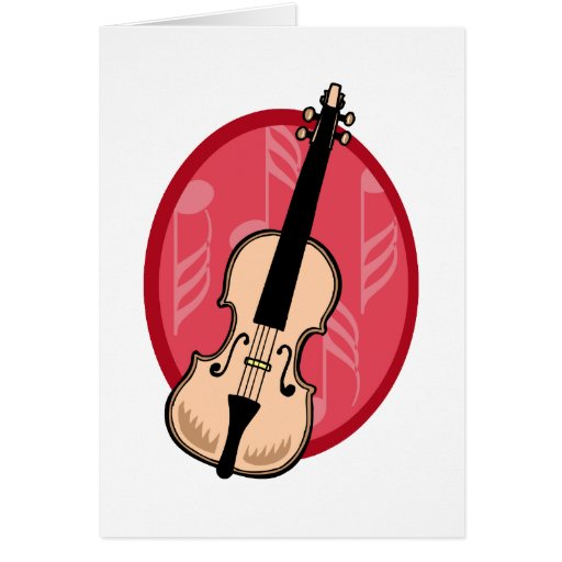 El violín con rosa observa el fondo tarjetas