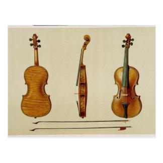 El violín de Hellier hecho por Antonio Stradivariu Postal