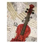 El violín rojo postales