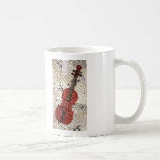 El violín rojo tazas