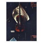 El violín viejo de Harnett Guillermo Michael Tarjeta Publicitaria