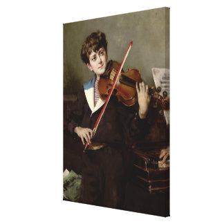 El violinista impresión en lona estirada
