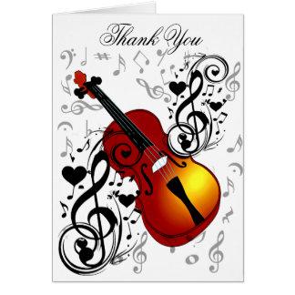 El violinista, oscila el House_ Tarjeta De Felicitación