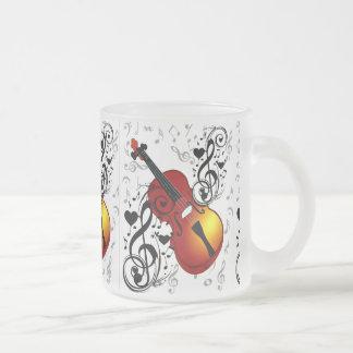 El violinista, oscila el House_ Taza De Café Esmerilada