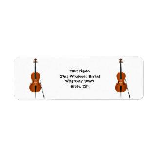 El violoncelo apenas añade el texto etiqueta de remite