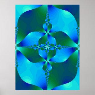 El violoncelo azul póster