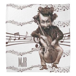 El violoncelo taja el vintage Muscian el | del | Bandana