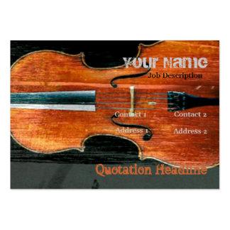 El violoncelo plantilla de tarjeta personal