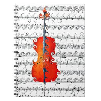 ¡El violoncelo y yo oscilamos! _ Spiral Notebook