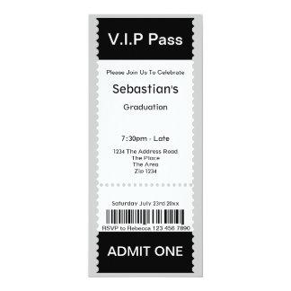 El VIP pasa el boleto de la admisión de la fiesta Comunicados Personales