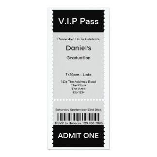El VIP pasa el boleto de la admisión de la fiesta Comunicado Personal