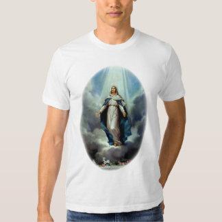 El Virgen María bendecido dejó el brillo ligero Playera