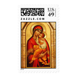 El Virgen María bendecido Franqueo