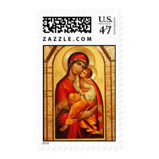 El Virgen María bendecido Timbres Postales