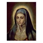 El Virgen María, c.1594-1604 Postales