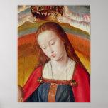 El Virgen María con su corona Póster