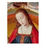 El Virgen María con su corona Tarjetas Postales
