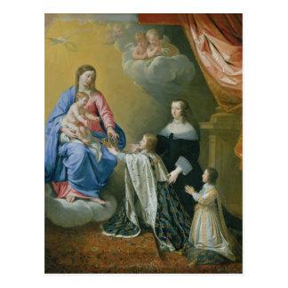 El Virgen María da la corona y el Sceptre Postales