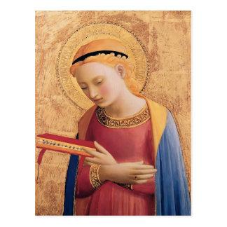 El Virgen María del Fra Angelico- anuncia Tarjeta Postal