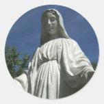 El Virgen María Pegatina Redonda