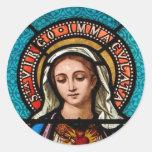 El Virgen María Pegatinas Redondas