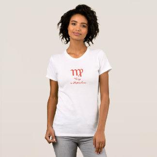 El virgo es camiseta de color claro meticulosa del playeras