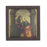El Visitation de St. Elizabeth al Virgen María Cajas De Joyas De Calidad