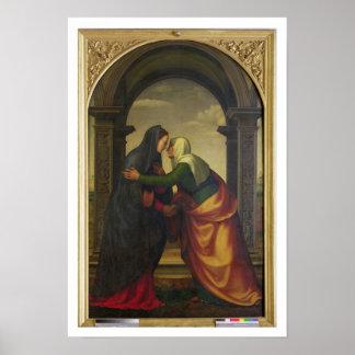 El Visitation de St. Elizabeth al Virgen María Posters