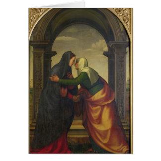 El Visitation de St. Elizabeth al Virgen María Tarjeton