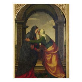 El Visitation de St. Elizabeth al Virgen María Postal