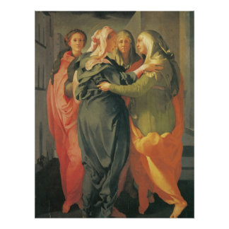 El Visitation - Jacopo DA Pontormo Póster