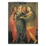 El Visitation - Jacopo DA Pontormo Tarjeta De Felicitación