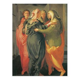 El Visitation - Jacopo DA Pontormo Tarjetas Postales