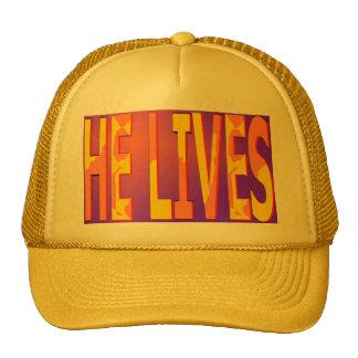 Él vive casquillo gorras de camionero