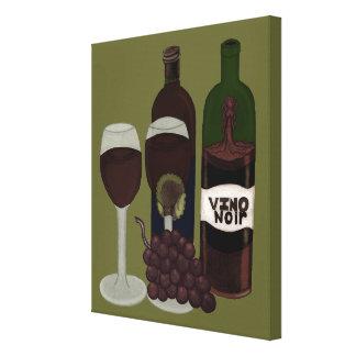 El Vixen del vino - (la belleza en la botella) Lona Estirada Galerías
