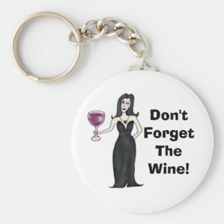 """El Vixen del vino """"no olvida el vino """" Llavero Personalizado"""