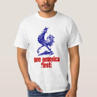 El vntg de la camiseta considera el primer gallo camisas