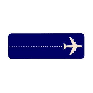 el volar a etiqueta de remite