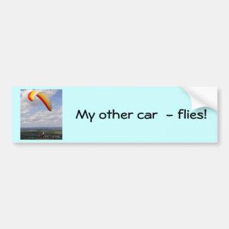 El volar a solas pegatina para auto