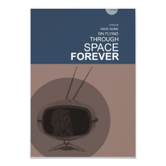 """El volar a través de espacio invitación 3.5"""" x 5"""""""